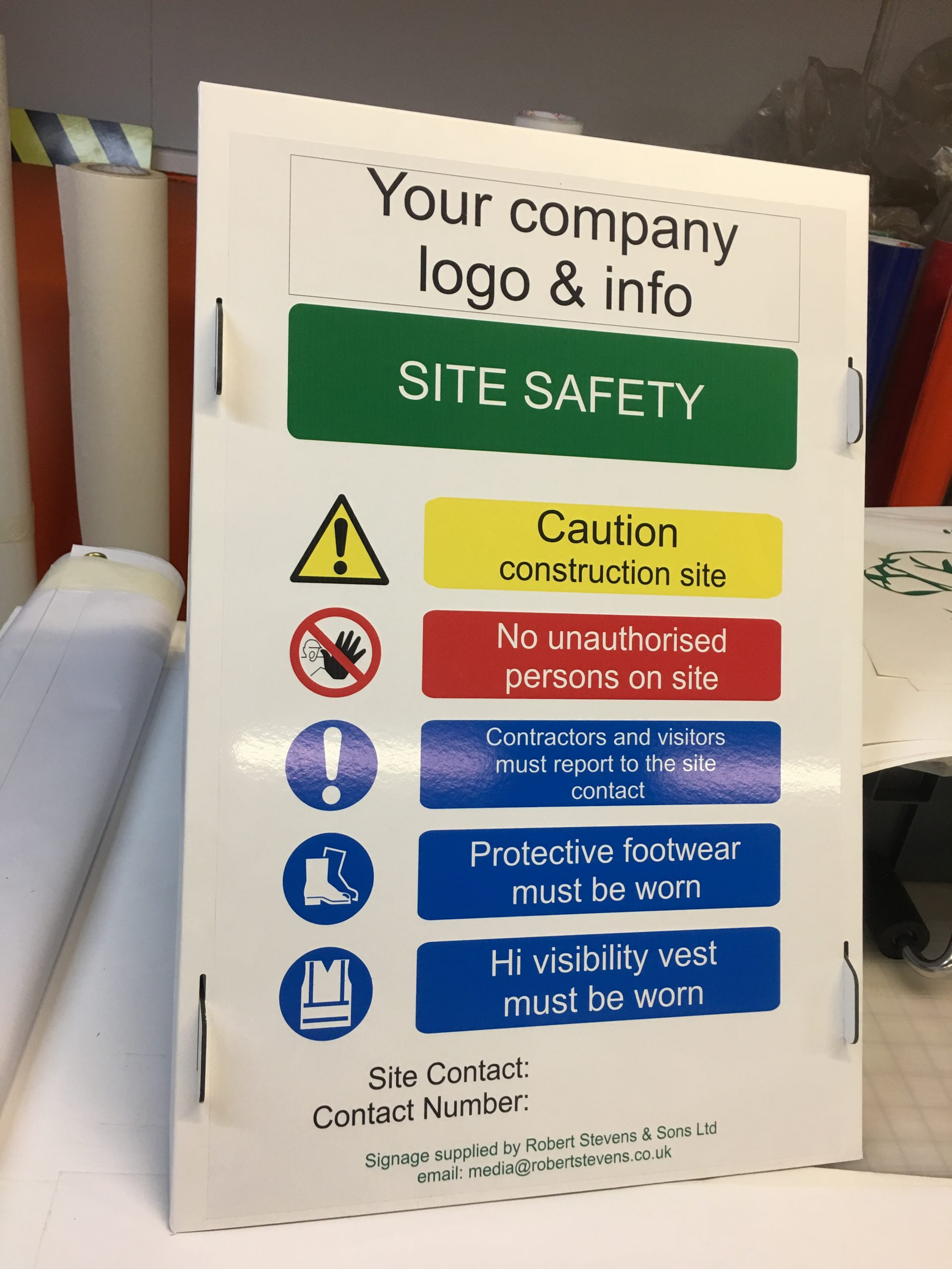 Robert Stevens – Site Safety Signage